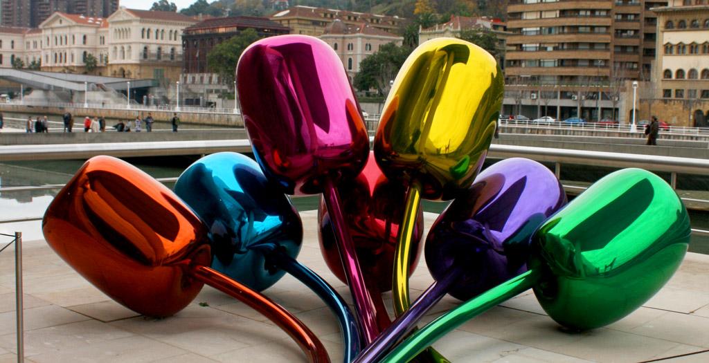 Se ven los Tulipanes del Museo Guggenheim