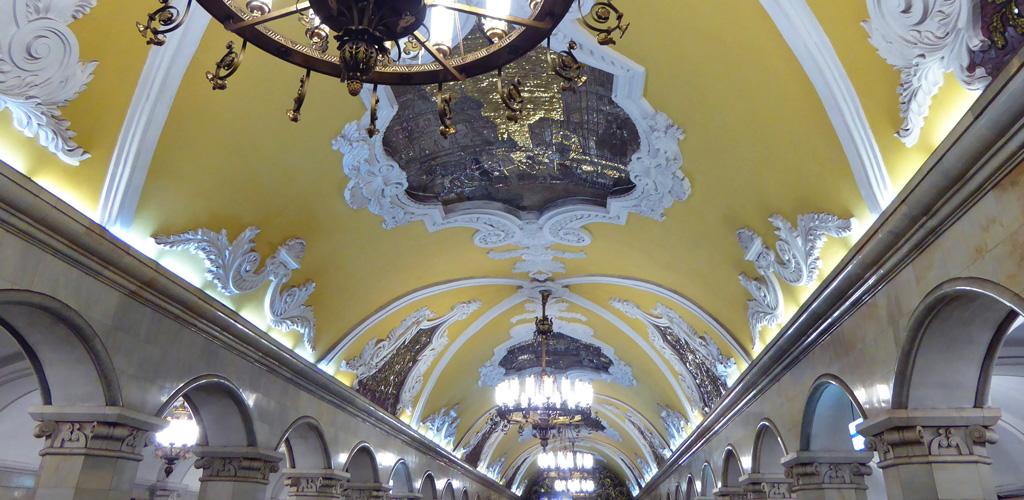 Estación Komsomólskaya - Galeria de arte en el Metro de Moscú