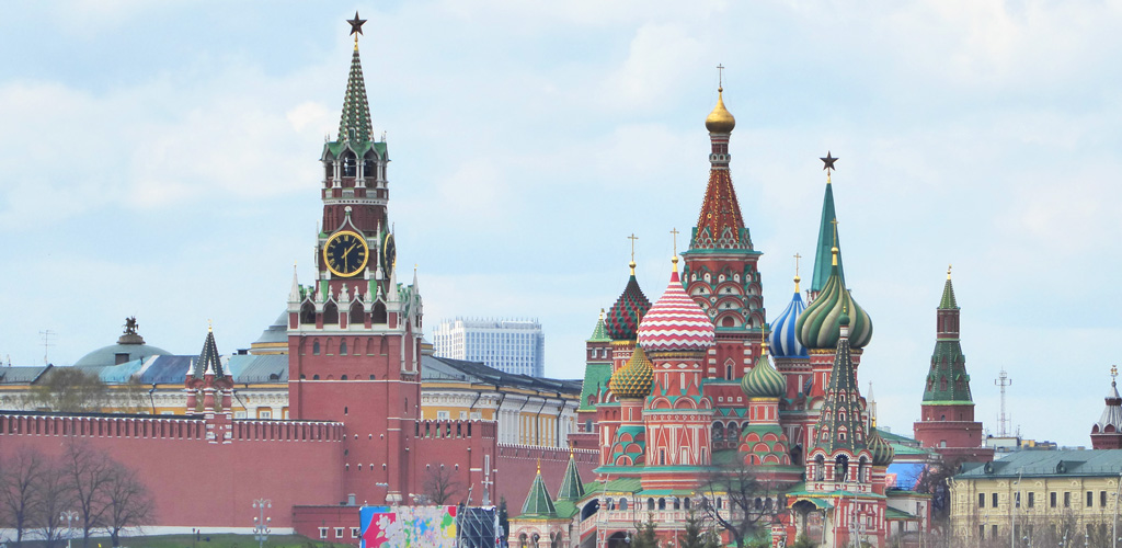 Vistas del Kremlin y la Plaza Roja de Moscú