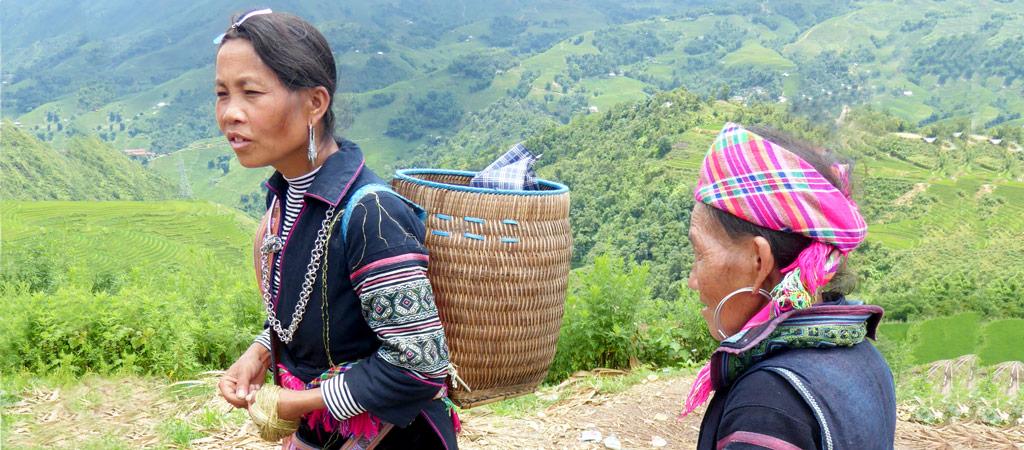Etnias en Sapa, justo en en el Norte de Vietnam tocando la frontera con China