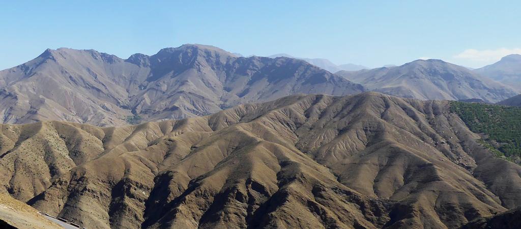 Picos de las montañas del Atlas en Marruecos