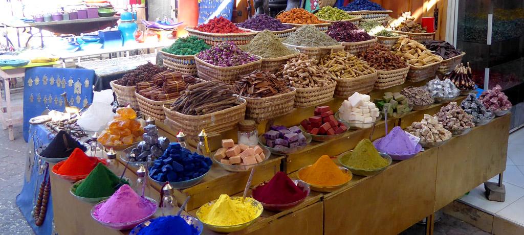 Especias en el Zoko de Marrakech