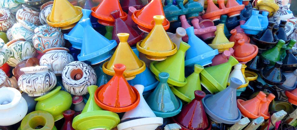 Tajines en las calles de Marrakech