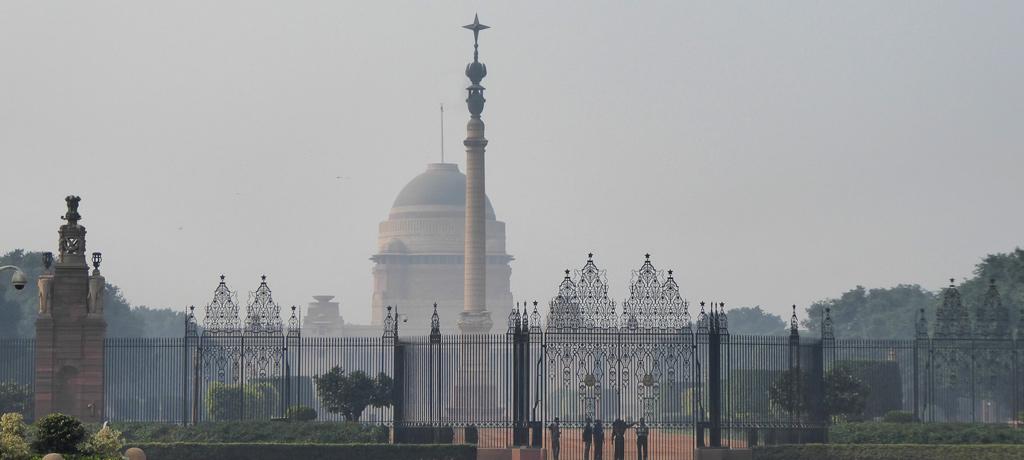 Rashtrapati Bhavan es la residencia oficial del Presidente de la India, localizada en Nueva Delhi.