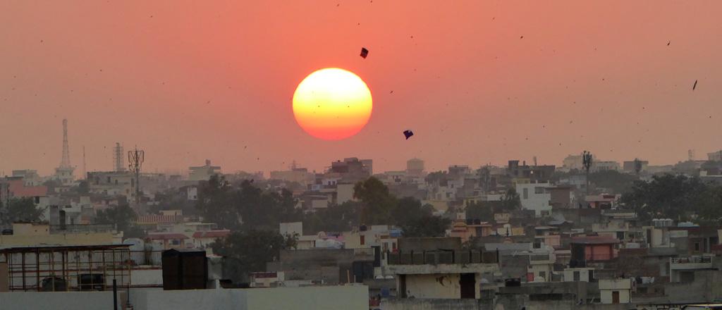 Puesta de sol en Jaipur
