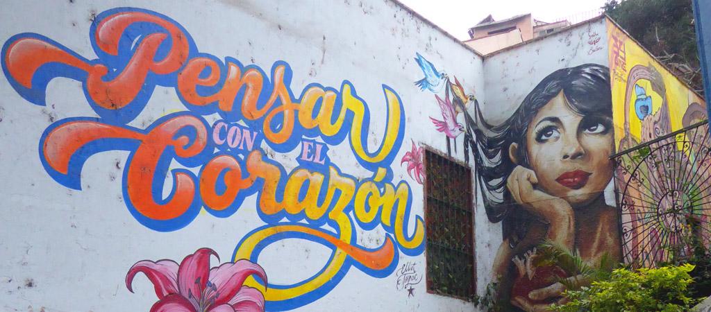 Street art en el barrio de Barranco, Lima