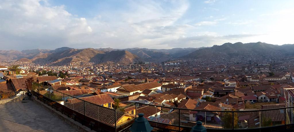 Vistas panorámicas de la ciudad de Cusco, en Perú