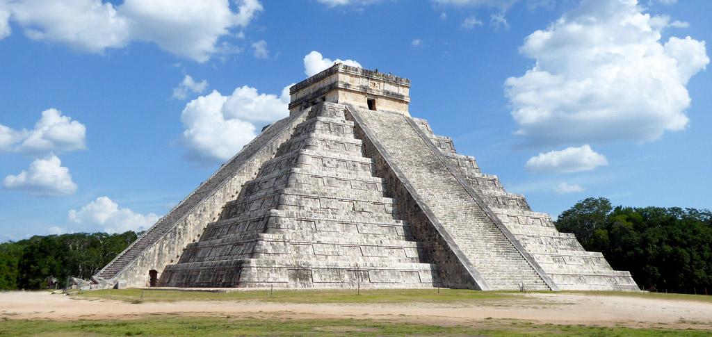La península de Yucatán en el Golfo de México